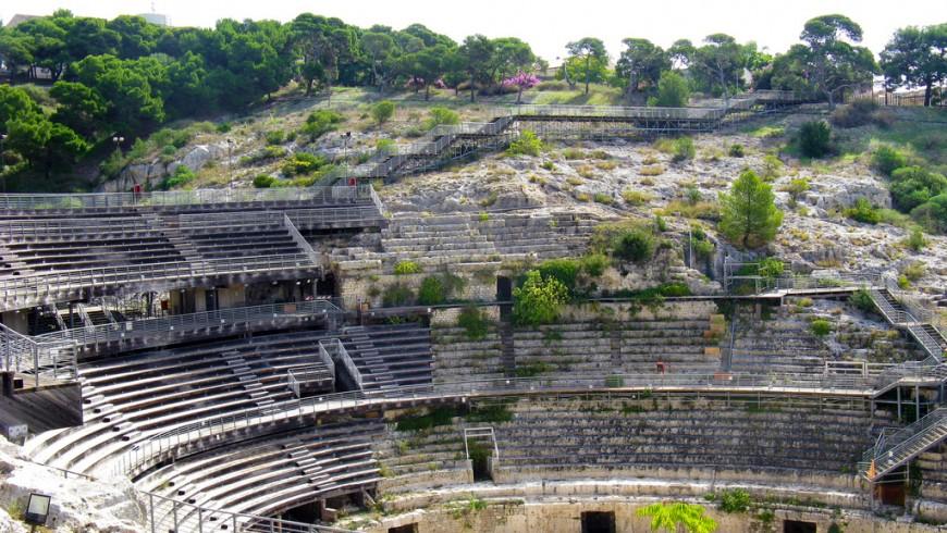 Anfiteatro romano, Cagliari, foto di Claudio Nichele, via Flickr
