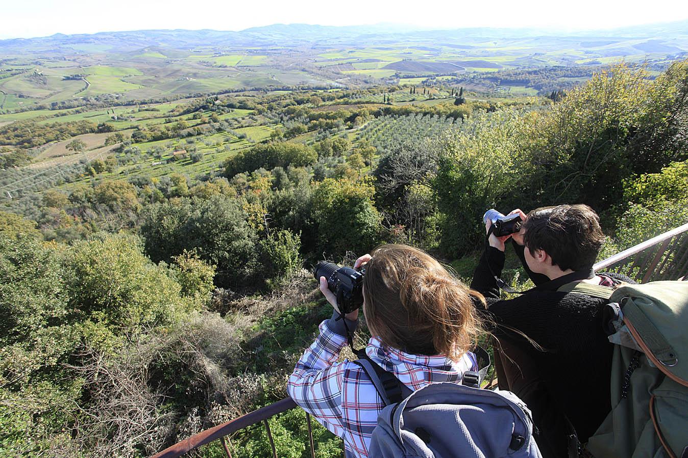Panorama da Vignoni vecchia, foto di Enrico Caracciolo, all rights reserved