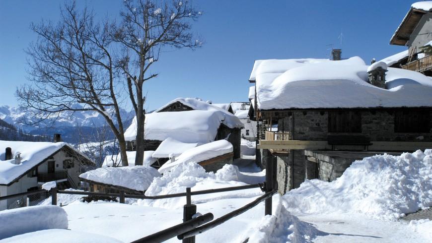 Chamois, la località più alta della Val d'Aosta, in cui le auto non arrivano.