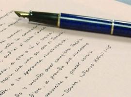 Scrivere a mano per esprimere il proprio sé