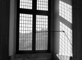 Interno di finestra di palazzo