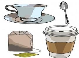 Caffé e bustine di te
