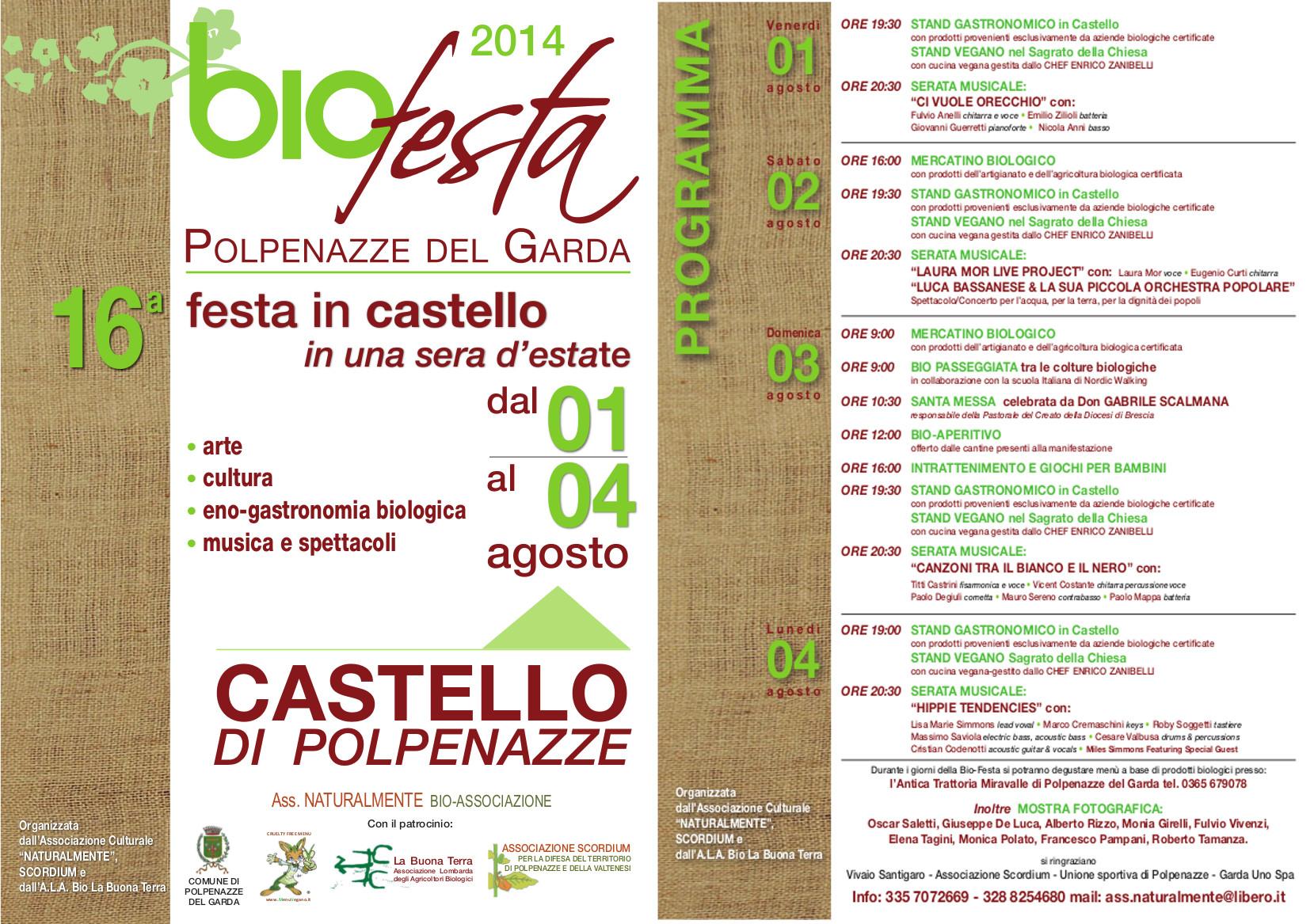 Locandina della Bio Festa 2014 a Polpenazze del Garda