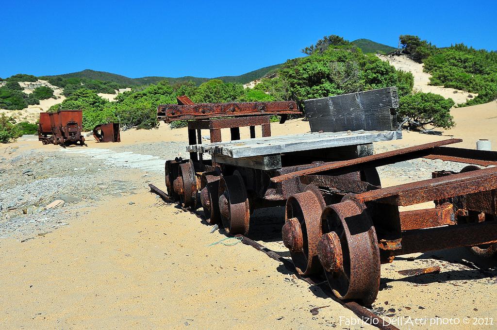 Antichi vagoni delle miniere di Sulcis, Sardegna