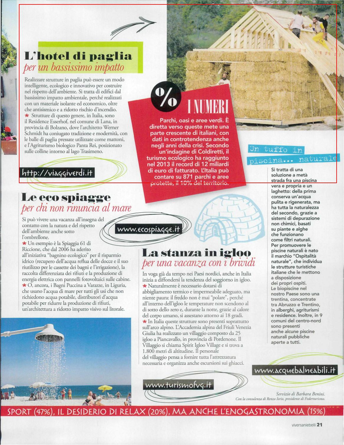 Viversani e Belli del 25 luglio, alcuni spunti per Viaggiare eco sostenibile
