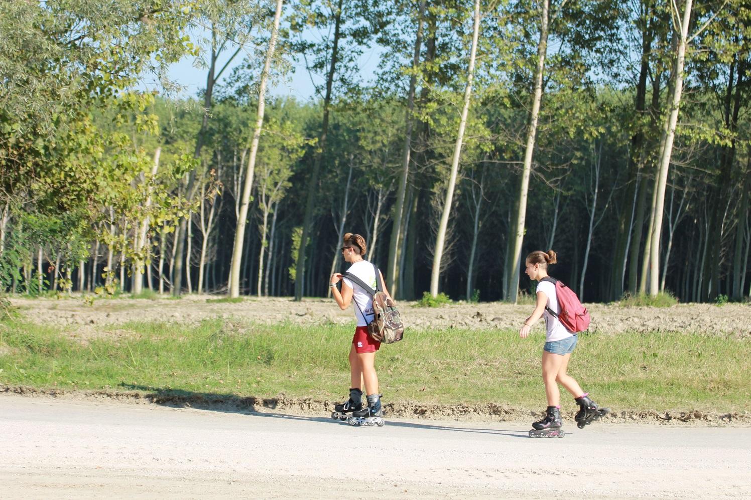 Mobilità dolce lungo fiume Po, a Gualtieri.