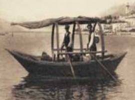 Immagine storica di una Lucia, imbarcazioend el Lago di Como