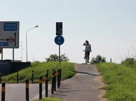 In bici al Lido Po di Boretto