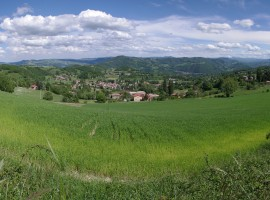Panorama sulle colline emiliane dal Parco del Monte Fuso