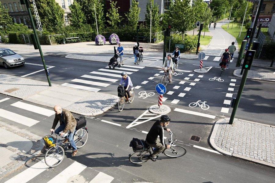 Biciclette a Copenaghen in Danimarca