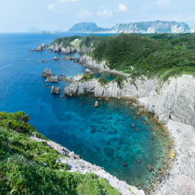 coste frastagliate di isole in Giappone