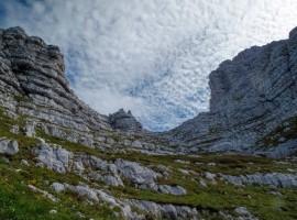 Montagne attorno al rifugio Luca Vuerich, Friuli Venezia Giulia