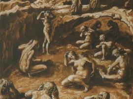 Gli adulatori; illustrazione di Giovanni Stradano(1587)