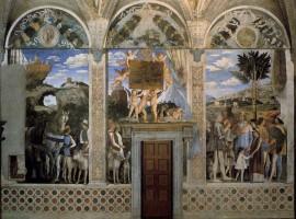 Una parete della Camera degli Sposi, Palazzo Ducale, Mantova