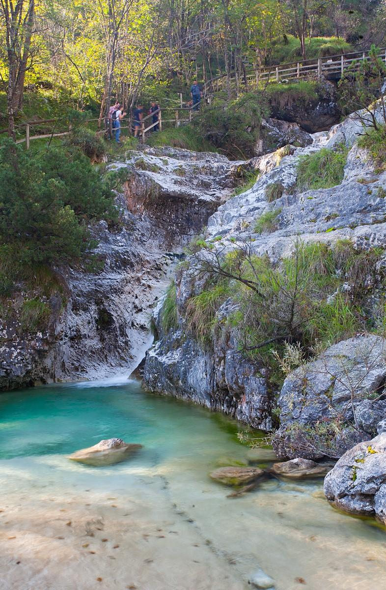 piscine naturali nella valle del Mis, Belluno