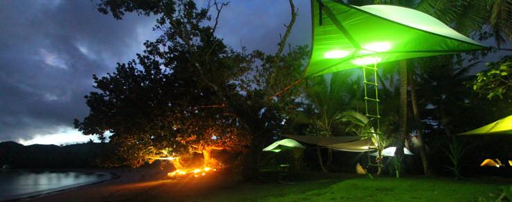 tenda tentsile, dormire sospesi da terra