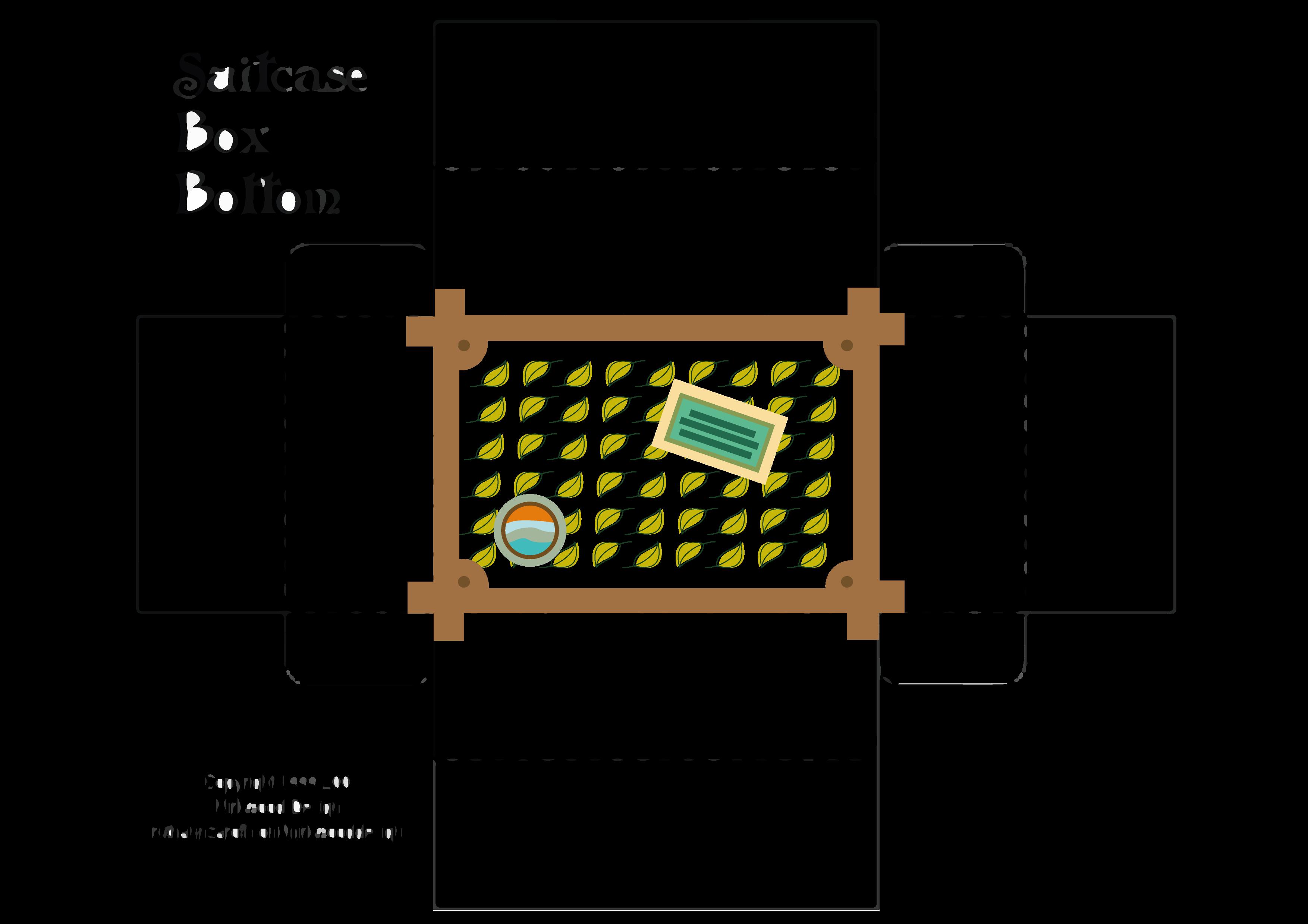 Sagoma della valigetta che puoi utilizzare per creare la tua confezione regalo in cartoncino riciclato - RETRO