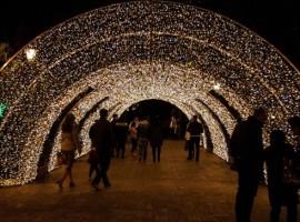 Le luci natalizie di Salerno