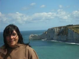 Valeria, viaggiatrice e wwoofer, in Normandia