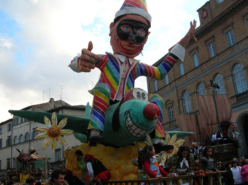 Carnevale di Acquapendente, qui la maschera tipica è il Saltaripe ed è una specie di Arlecchino dispettoso e ubriacone