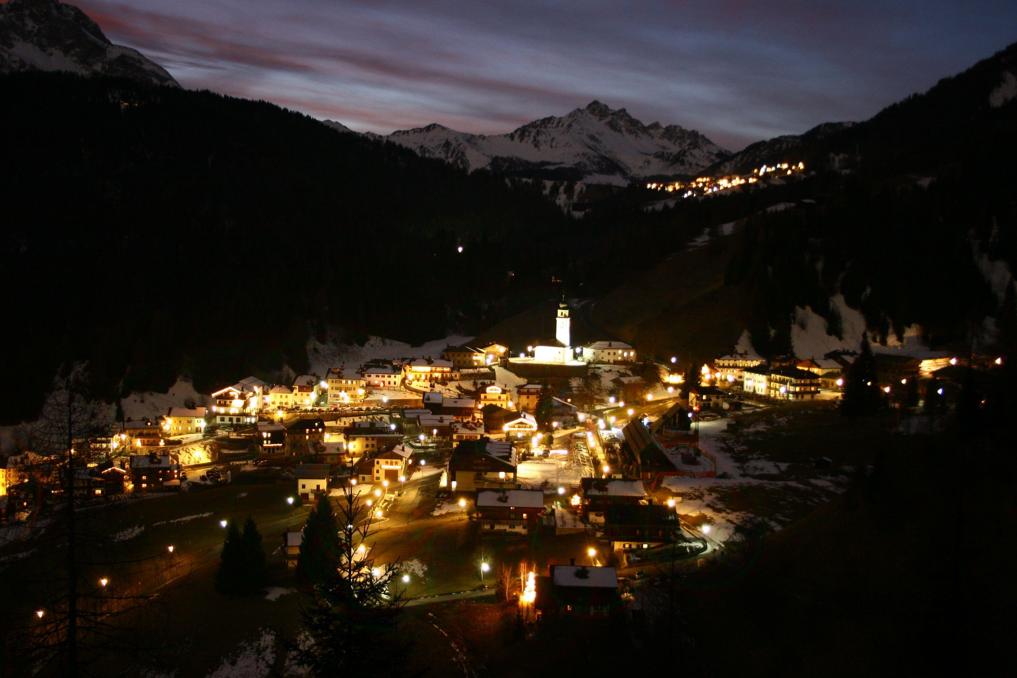 Paesaggio di Sauris di notte, Carnia