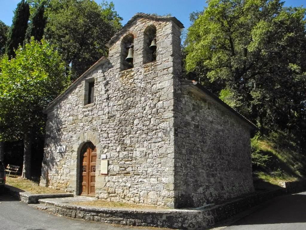 La chiesetta di Caprese Michelangelo, dove fù battezzato il grande artista