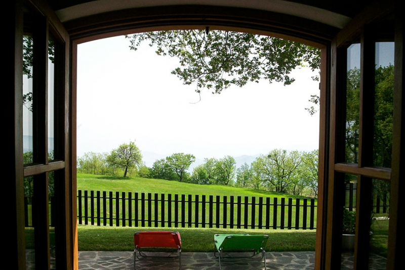 Il Bosco dei Daini, vista della natura dalla finestra