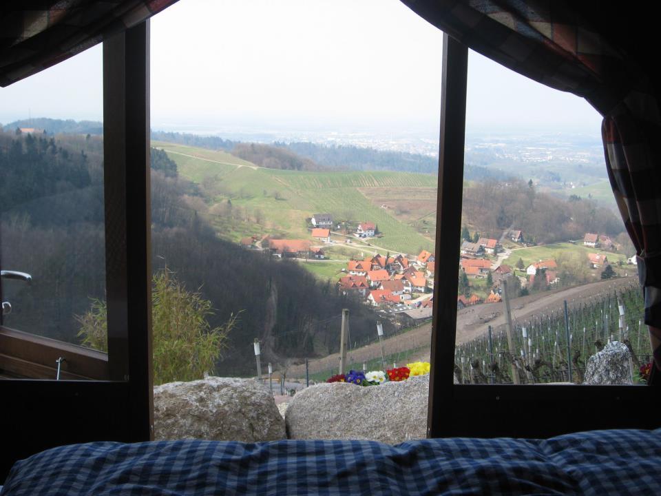 vista sulla valle dall'interno della botte