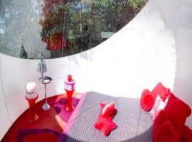 L'interno di Glamour Bubble room,