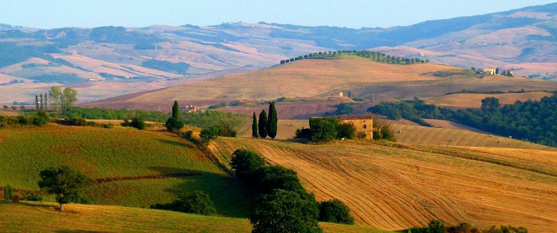Val d'Orcia, Toscana, agriturismo verde