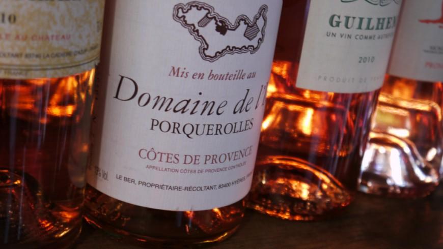 vino rosè dell'isola di Porquerolles