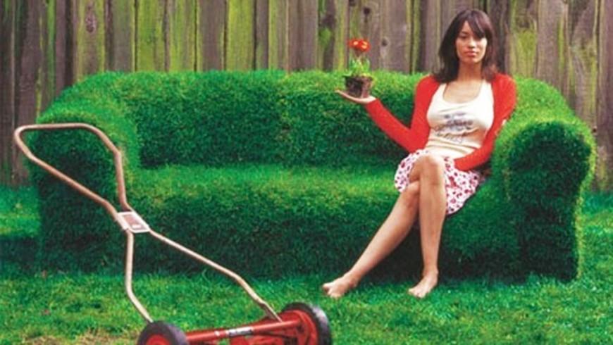 Un divano di erba