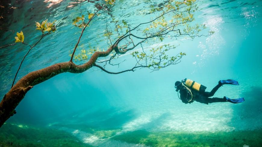 Green Lake, il parco che diventa lago, in Austria