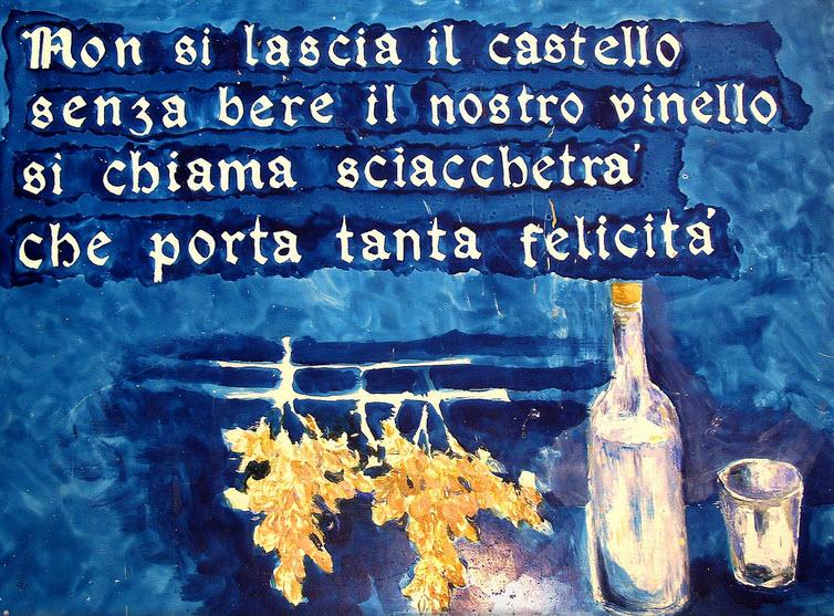 Murale con immagine bottiglia Sciachetrà