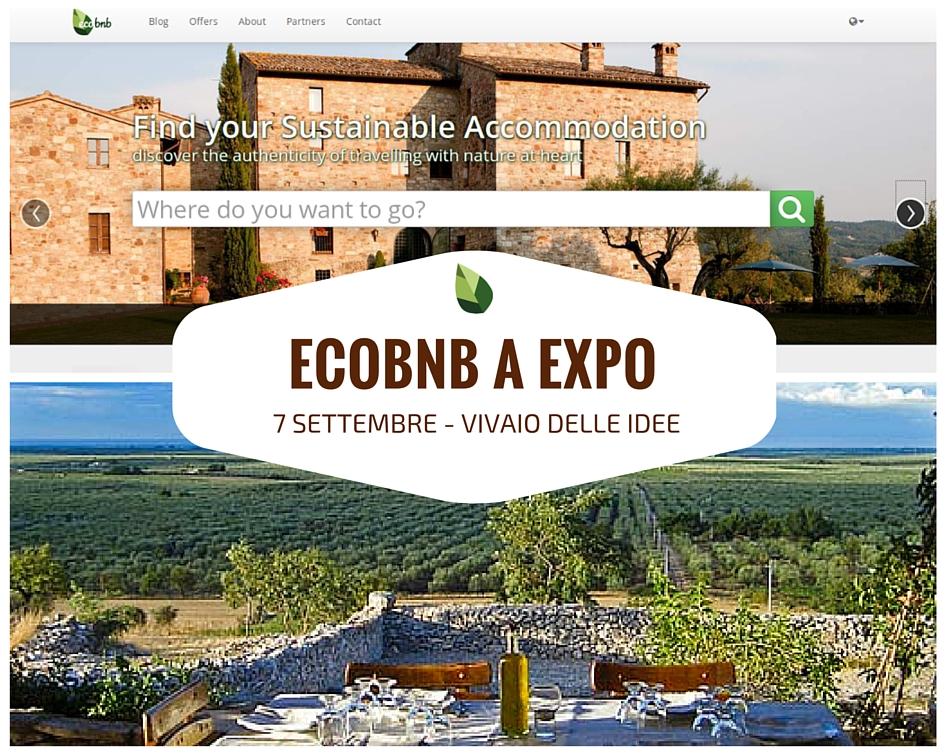 Ecobnb, la piattaforma del Turismo Sostenibile, uno dei progetti presentati al Vivaio delle Idee di Expo Milano 2015
