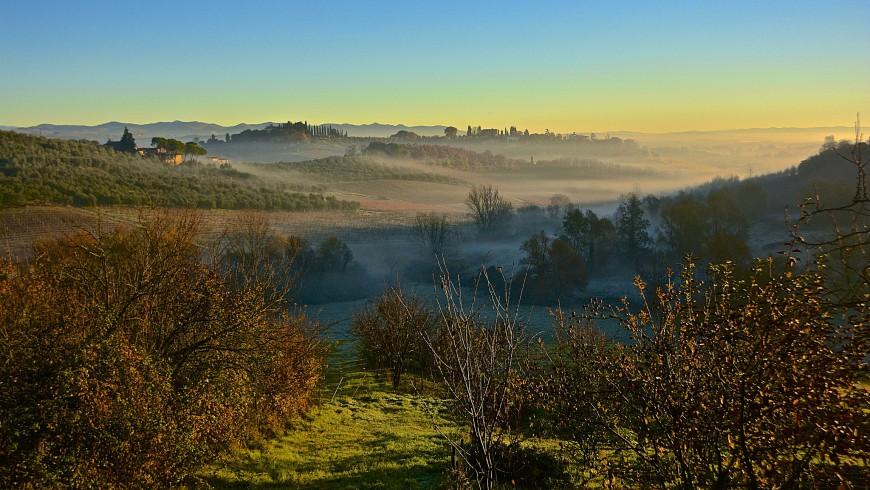 La natura nei dintorni di Siena in autunno
