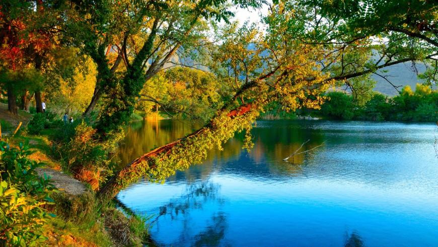 Foliage nel Lago di Telese, vicino a Benevento