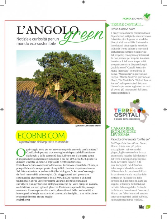 Bio Magazine, turismo sostenibile