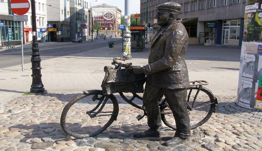 Una statua a Poznan