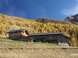 Sagna Rotonda in autunno, val di Maira, Piemonte