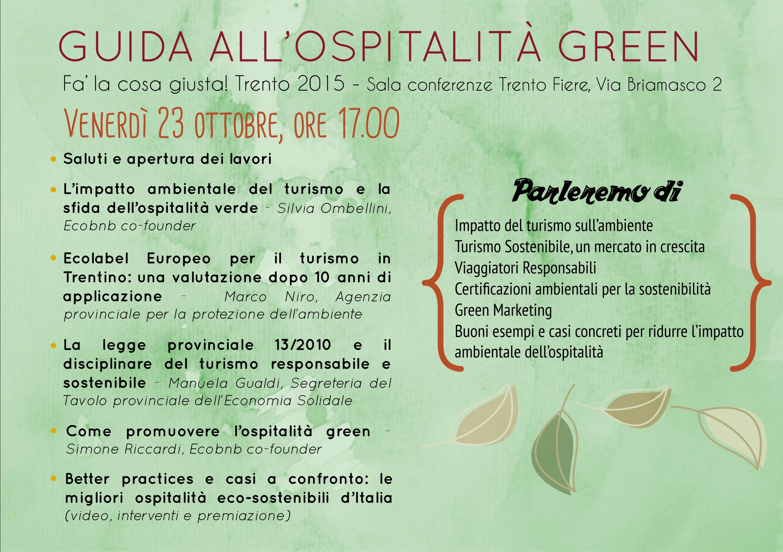 Guida all'Ospitalità Green - Fa' la cosa giusta! Trento