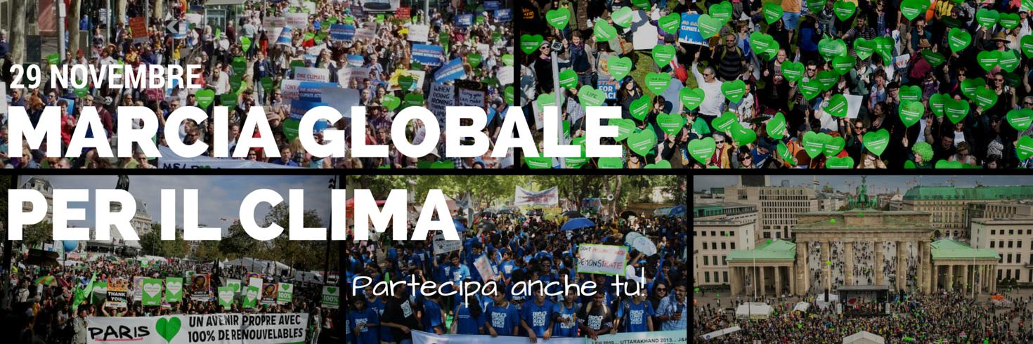 29 novembre - Marcia Globale per il Clima: salviamo il Pianeta!
