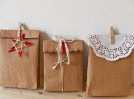 confezione regalo con la carta del pane