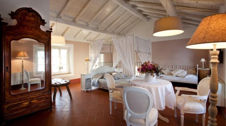 Una delle camere di Cascina Caremma