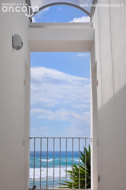 Vista sul blu del mare dal Residence Ancora, Acciaroli