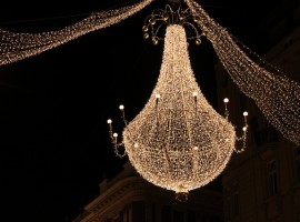 Decorazione natalizie a Stephansplatz, Vienna, Austria