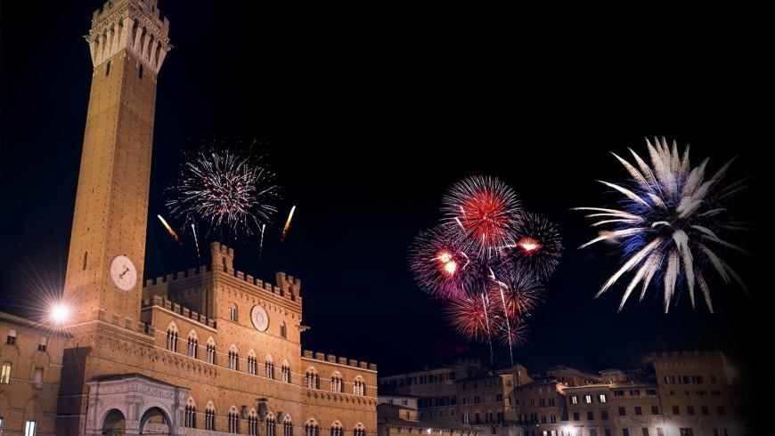Piazza del Campo, Siena, a Capodanno