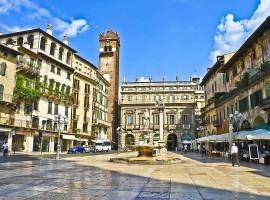 Piazza Erbe a Verona