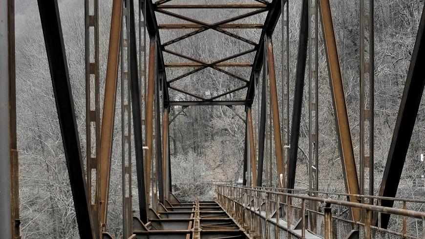 binari dismessi in Svizzera: ponte della Brolla, Tegna, Vallemaggia, Canton Ticino, Svizzera