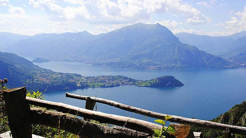 Cammino lungo il Lago di Como, vista dal Sentiero del Viandante